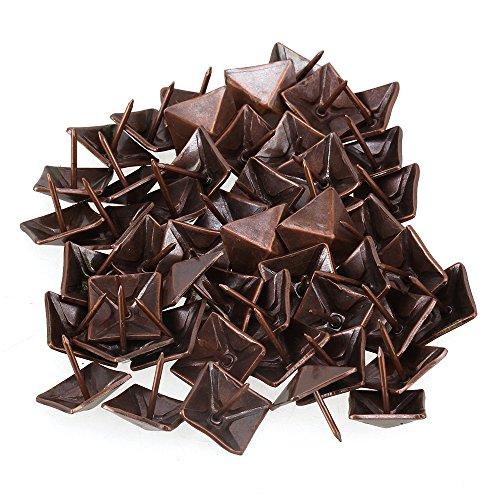 BQLZR 19 x 21mm Rot Bronze Antik Viereck Kegel Nagel Pyramide Ziernägel Möbel Polsternägel 50 Stück