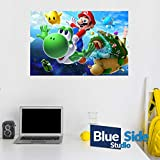 Adhesivo decorativo para pared, diseño de Super Mario Bross, 105cm x 69cm