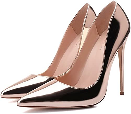 Talons hauts Super Sexy à avec Une Seule Bouche Chaussures Peu Profondes avec des Chaussures de Haute Champagne de 8cm   10cm   12cm