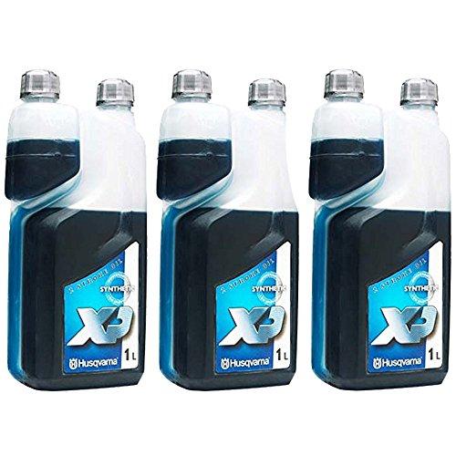 Aceite para motor Husqvarna XP de 2 tiempos (1 litro, 3 unidades)