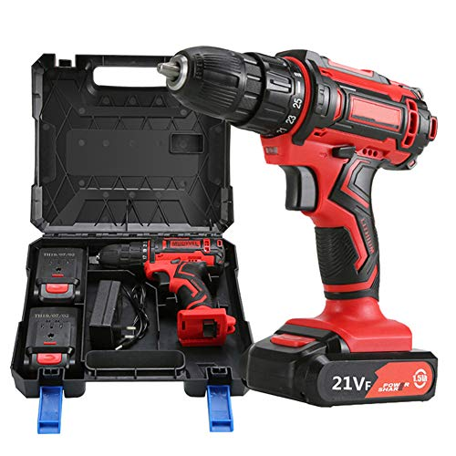 21V Brushless Cordless Drill, 1/2 Inch Electric Drill Set Variable Speed Drill, Max Torque 38Nm and Self-Tightening Chuck 10mm (39 Accessories)