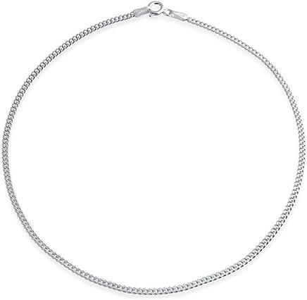 Bling Jewelry 贝灵珠宝 925纯银古巴脚链 纽约直邮 【亚马逊海外卖家】