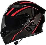 Casco Moto Apribile Bluetooth, Casco Modulare Per Motocicletta Four Seasons, Omologato DOT/ECE Leggero Per Uomo Donna Casco Integrale Da Moto 3, XXXL=(64~65CM