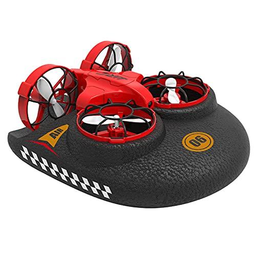 DCLINA Mini Drone 3 in 1 con Rotazione a 360 ° Drone Telecomando Staccabile Drone RC Supporto per Veicolo in Barca modalità Mare-Terra-Aria Regalo per Ragazze dei Ragazzi