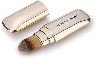 Retractable Face Makeup Brush, Portable Soft Multitask Powder Foundation Isolation cream Concealer Brush Member-gold