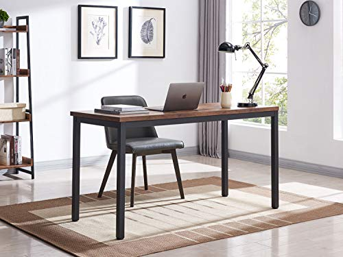 "VINEXT 47"" Industrial Computer Desk, Writing Desk, Home Office Desk, PC Laptop Table, Simple Study Table, Table for Living or Dining Room, Easy to Assemble, 0.7in (1.8cm)thickened desktop, Rustic Brow"