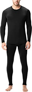 LAPASA Men's Thermal Underwear Long John Set Fleece Lined Base Layer Top and Bottom M11