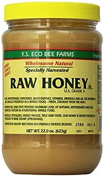 y s eco bee farms raw honey 22 oz