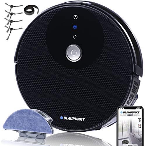 BLAUPUNKT | Robot Aspirador y Fregasuelos Bluebot XBOOST | Control por APP, Alexa, Google Home | Mapeo Limpieza Inteligente | Gran Bolsa Basura 600 ml | 2 Horas De Autonomía | Mira