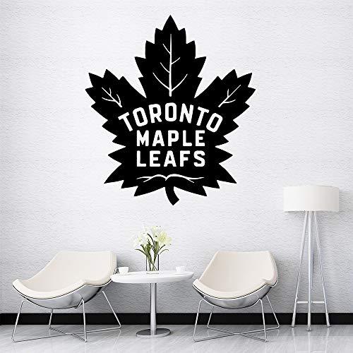 Kreative Toronto Maple Leafs Cartoon Wandtattoos Pvc Wandkunst Diy Poster Für Kinderzimmer Wohnzimmer Wohnkultur Wandkunst Aufkleber Lila 28 * 31 CM