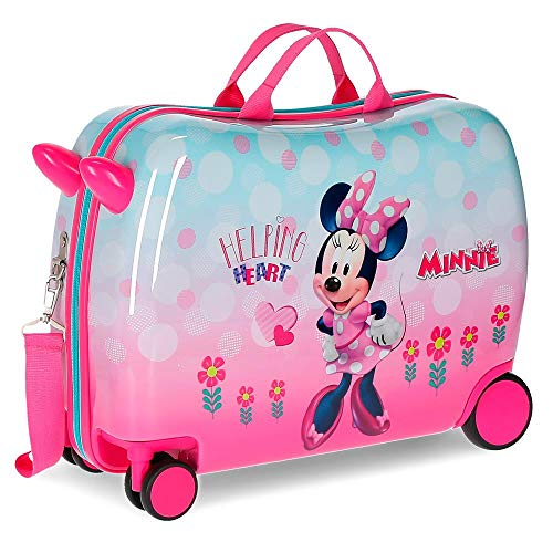 Disney Minnie Heart Equipaje infantil, 50 cm, 39 litros, Rosa
