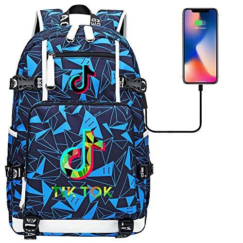 College Backpack Fits 15 Inch Laptop USB Charging Port Girl Backpack 45cm*30cm*15cm Type D