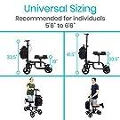 Vive Mobility Knee Walker - Steerable Scooter for Broken Leg, Foot, Ankle Injuries - Kneeling Quad Roller Cart - Seat Pad for Adult and Elderly Medical - 4 Wheel Caddy Crutch - Bag Included (Black) #3