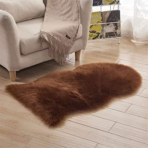Carpets Super Soft Washable Sheepskin Rug Fur Wool Fluffy Carpets Shiny Wool Runner Rugs 65102cm