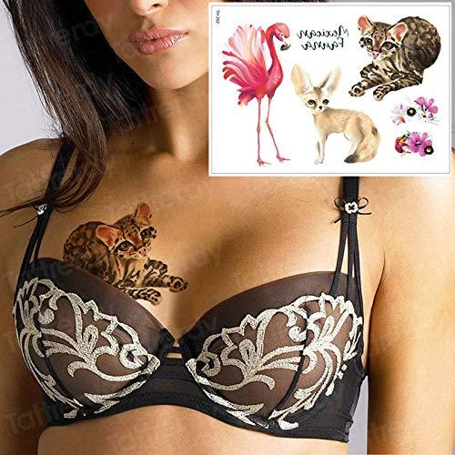 Tzxdbh Tatuaje Temporal Animales Pegatinas Bikini