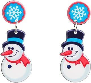 Shuda Pendientes Mujer Largos de Navidad Cuelgan Pendientes Forma de Estrella de Copo de Nieve de muñeco de Nieve Accesorios Black Friday Juguetes 2018 1 Par