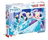 Clementoni- Supercolor - Puzzle (104 Piezas), diseño de Frozen, Multicolor (23729)