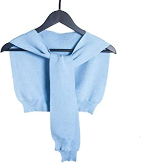 Women's Knit Outer Scarf knotted Pure-color Warm Wrap Shawl Cashmere Feel