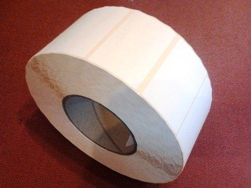 Etikett weiss für Thermotransfair geeignet 40x68mm 3000 Stück auf Rolle