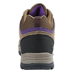 Northside Women's Pioneer-W Hiking Boot, Medium Brown/Dark Purple, 10 M US