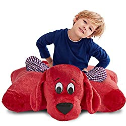 Image: Pillow Pets Clifford The Big Red Dog Jumboz Plush - 30 Inch Stuffed Animal Pillow