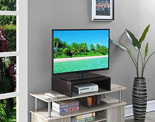 Convenience Concepts 121041ES Designs2Go - Elevador de TV y Monitor pequeño, Color marrón
