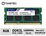 Timetec Hynix IC 8GB DDR3L 1600MHz PC3-12800 Unbuffered Non-ECC 1.35V CL11 2Rx8 Dual Rank 204 Pin SODIMM Ordinateur Portable...