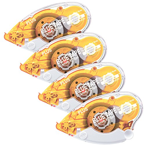 Plus Corporation Glue Tape Tg-610Bc-Re, Repositionable Adhesive, 4-Pack (60387)