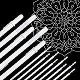 Vicloon Bolígrafos de Gel Blanco, 13 Pcs Bolígrafo de Tinta Blanca con Punta de 0.8 MM, Bolígrafo Punta Fina Gel Blanco Roll bolígrafo gel para Dibujos e Ilustraciones (5 Bolígrafos y 8 Recargas)