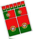 Biomar Labs® 10pcs Pegatina Bandera de Portugal Flag Vinilo Adhesivo Coches Cascos Motos Ciclomotores Bicicletas Ordenador Portátil D 30