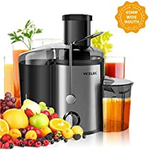 Juicer Extractor, VICELEC Extractor 600W Centrifugal Juicers Electric Anti-Drip Dual Speed BPA-Free Juicer Machine with Juice Jug and Pulp Container for Fruit & Vegetable