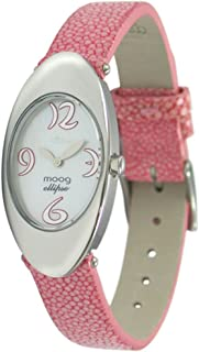 Ellipse Women's Watch with White Mother of Pearl Dial, Pink Strap in Galuchat - M41032F-005