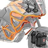 Set Defensas + Faro Adicional para XL KTM 1090 Adventure/R 17-19 Naranja + K3
