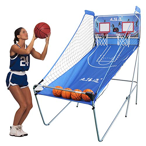 LXLA Juego de Baloncesto Juego de Baloncesto Arcade para Adultos para Interior/Exterior, Juegos de Aros de Tiro para 2 Jugadores con Marcador Electrónico, 4 Bolas y Bomba - Fácil Montaje