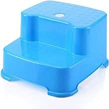 Manyo Marchepied Enfants Marche Pied Antid/érapant Toilette//Salle de Bain Bleu Tabouret Enfant Plastique Escabeau 2 Marches