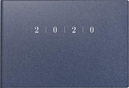 rido/idé 701756330 Taschenkalender Septimus (2 Seite = 1 Woche, 152 x 102 mm, Kunststoff-Einband Reflection, Kalendarium 2020) blau