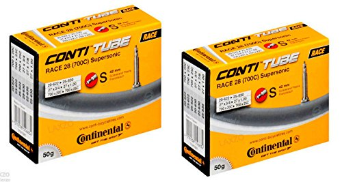 2 x Continental Race 28 Supersonic Fahrradreifen 700 x 18–25 Presta 42 mm 50 g