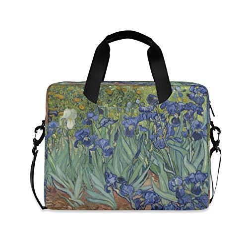 HMZXZ Funda para ordenador portátil de 13 a 14 y 15,6 pulgadas, diseño de flores de Iris de la acuarela Van Gogh Iris