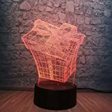 3D LED Lampe d'illusion Optique LED Veilleuse Diplôme de boîte Décoration pour Enfant Chambre Chevet Table de Bébé Enfant Cadeau De Noël Fête Avec chargement USB, changement de couleur coloré