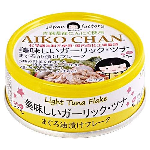 伊藤食品 美味しいガーリック・ツナ まぐろ油漬けフレーク 70g缶×24個入