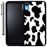 Custom Case Compatible with iPhone XR (Cow Print) Edge-to-Edge Rubber Black Cover Ultra Slim | Lightweight | Includes Stylus Pen by Innosub