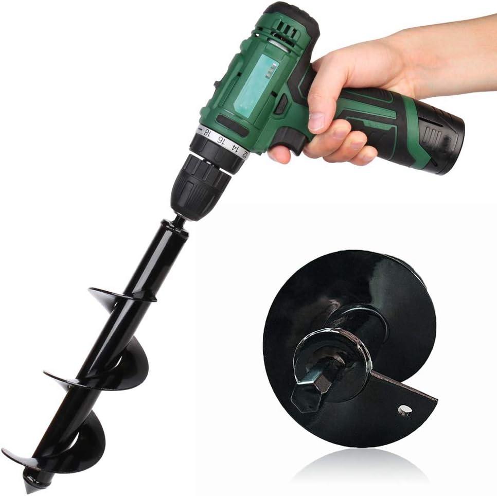 "Garden Spiral Drill Bit 1.6/"" X 8.7/"" Electric Cordless Replacement Planter Auger"