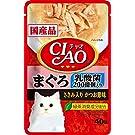 CIAO(チャオ) パウチ 乳酸菌入り まぐろ ささみ入りかつお節味 40g×16袋【まとめ買い】