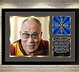 SGH SERVICES Dalai Lama signiertes Poster mit Rahmen,