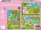 Schmidt Spiele 56225 - Puzzle (3 x 48 Piezas), diseño de Princesa en el Cerrajero