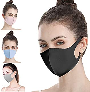 MAYCREATE® Mouth Mask Cotton Blend Anti Dust And Nose Protection Face Mouth Mask Fashion Reusable Masks For Man Woman 4PCS
