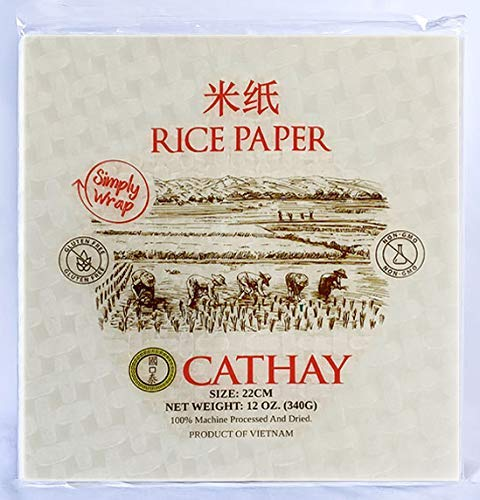 Fresh Spring Roll Rice Paper Wrappers (Square 22cm)