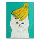 Xykhlj DIY Pintura Digital por - Gato de Dibujos Animados de Animales - Lienzo preimpreso - DIY Painting Adultos - Decoración del Hogar - 40x50cm - Sin Marco