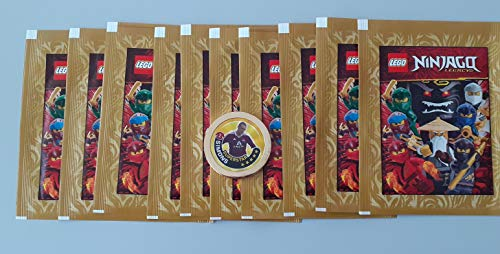 DE Lego Ninjago Legacy Sticker 2020 - 10 Stickertüten + Gold Chip