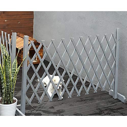 GZHENH Recinzione Espandibile in Legno Massello, Mobile Design Pieghevole Recinto per Cani Usato per Animale Domestico Tagliato Fuori, 5 Colori, 4 Taglie (Color : Gray, Size : 250x120cm)